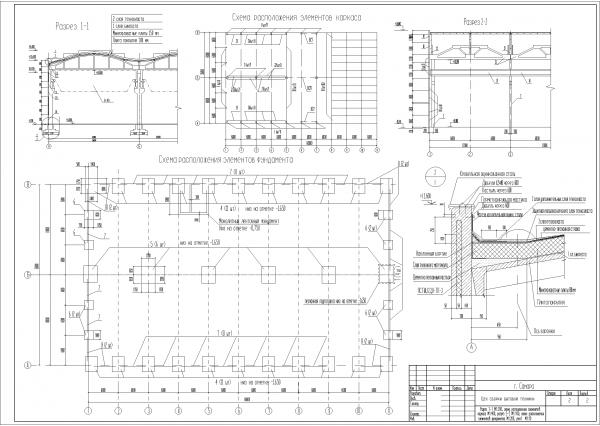 цех сборки бытовой техники фундаментный план промышленного здания столбчатый фундамент