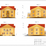 Фасады коттеджа курсовой проект по архитектуре УГНТУ