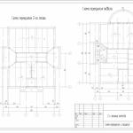 план перекрытия, схема перекрытия