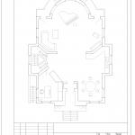 Планировка 1-го этажа коттеджа