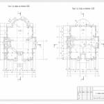 Планы этажей коттеджа